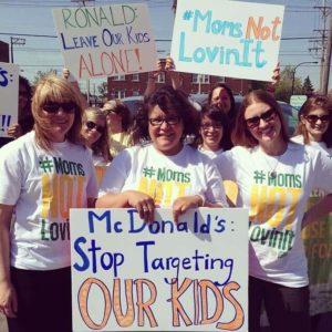 #Momsnotlovinit McDonalds Protest with Moms