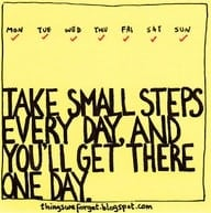 Small Steps and BIg Changes