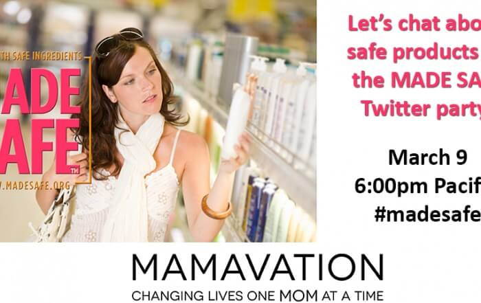 Made Safe Mamavation Twitter Party